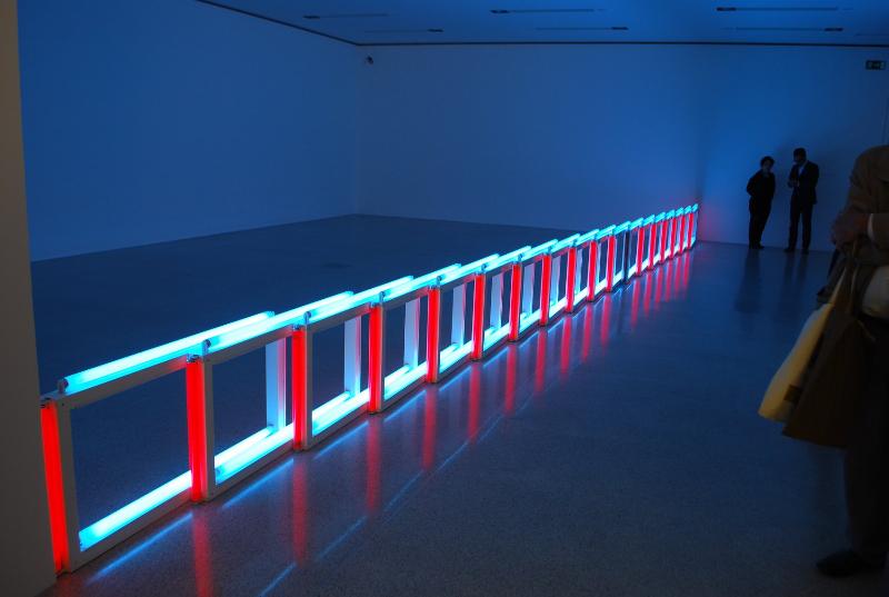 an-artificial-barrier-of-blue-red-and-blue-fluorescent-light_to-flavin-starbuck-judd_1968