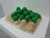 matt-mullican-green-balls-painted-on-wood_2001