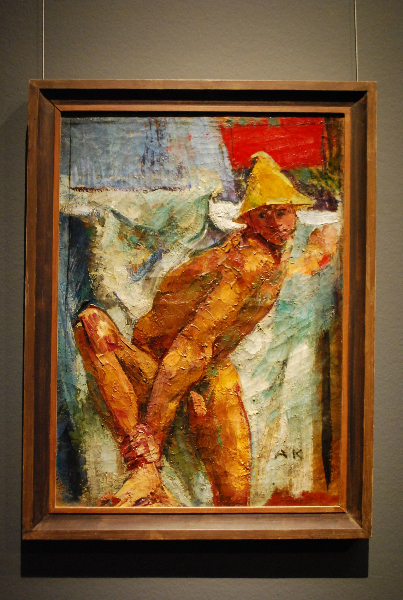 anton-kolig_knealing-man-with-straw-hat_1919