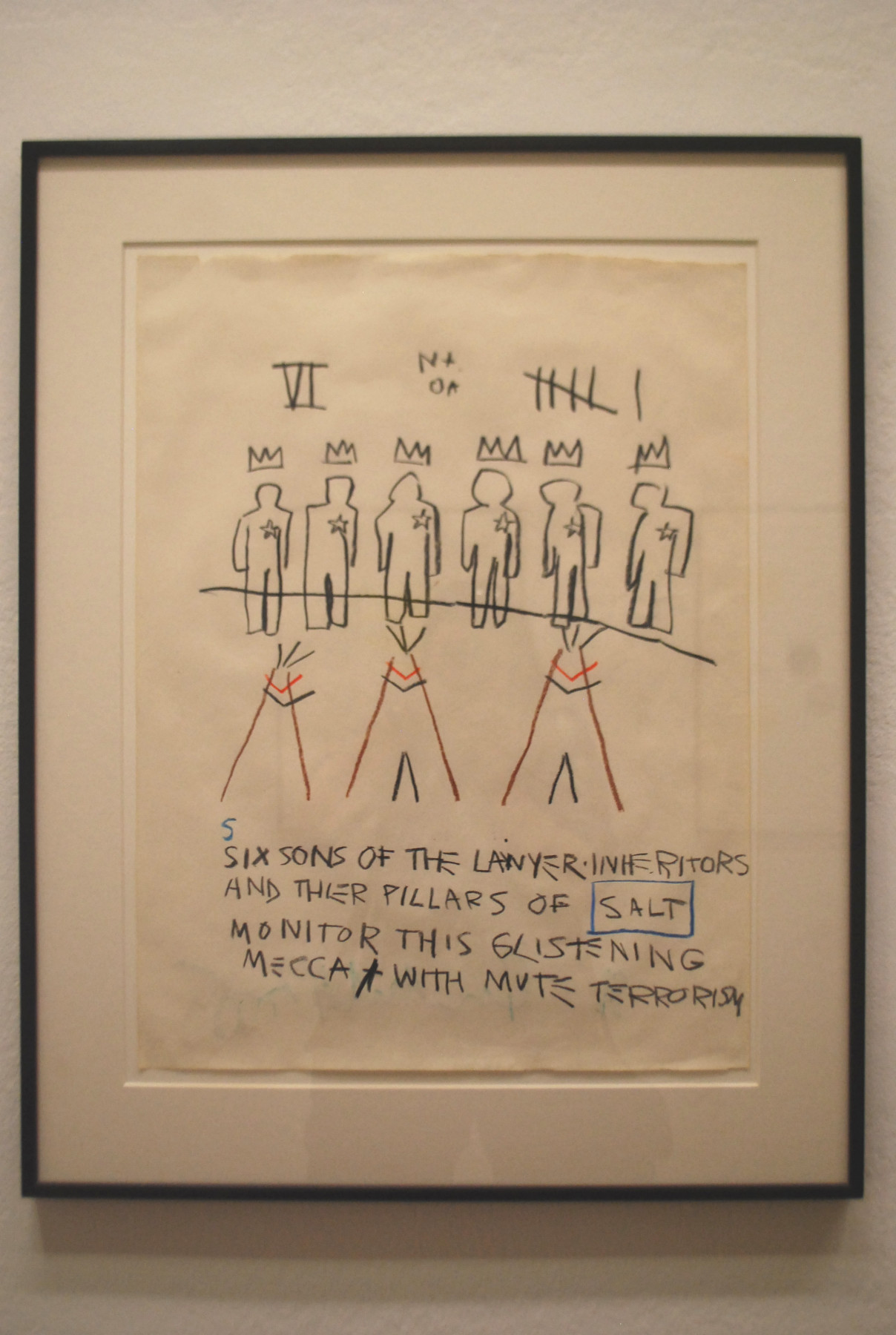 "J.-M. Basquiat ""Salt\"" (1981)"