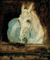 "Henri de Toulouze-Lautrec, White horse ""Gazelle"" (1881),   Oil on canvas Albertina, Vienna - Batliner Collection. Photo: © Fotostudio Heinz Preute, Vaduz"