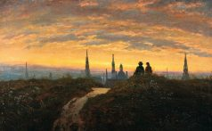 WOLKEN-03_Carl-Gustav-Carus_Blick-auf-Dresden-bei-Sonnenuntergang_1873_The-Samuel-Courtauld-Trust_The-Cortauld-Gallery-London_1