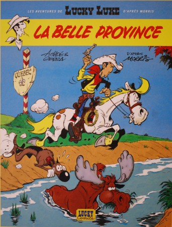 """La belle Province"", Lucky Luke by Achdé"