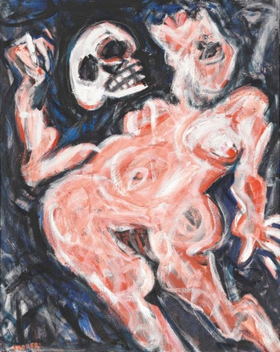 Hamlet (Salome als Hamlet), 1985/  oil on canvas, 100 x 80/ Photo: Mischa Nawrata