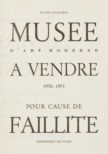 Detail of the Cover motive, Musée d'Art Moderne à vendre pour cause de faillite, 1970–1971, Edition Galerie Michael Werner/ Photo: mumok © Estate Marcel Broodthaers