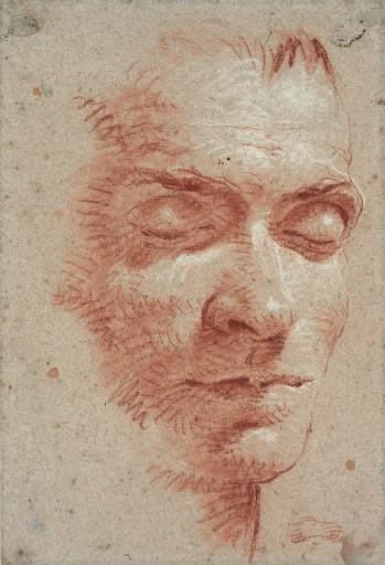 """Giovanni Battista Tiepolo, """"Kopf eines Mannes mit geschlossenen Augen"""", um 1750 © Sammlung Klüser, München, 2013 Foto: Mario Gastinger"""