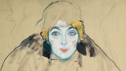 "Gustav Klimt ""Frauenkopf"", 1916/17,  LENTOS Kunstmuseum Linz/ Foto: Reinhard Haider."