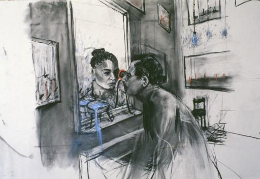 "William Kentridge, drawing  ""Felix in Exile"""