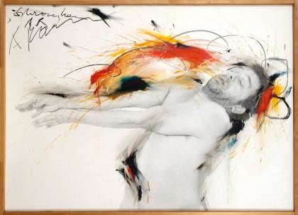 Arnulf Rainer Schranken, 1974/75  Ölkreide, Öl auf Fotografie auf Holz Albertina, Vienna