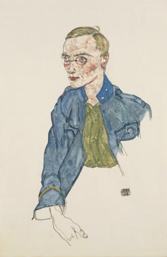 "Egon Schiele ""One Year Volounteer Lance-Corporal"", 1916 ©Leopold Museum, Vienna"