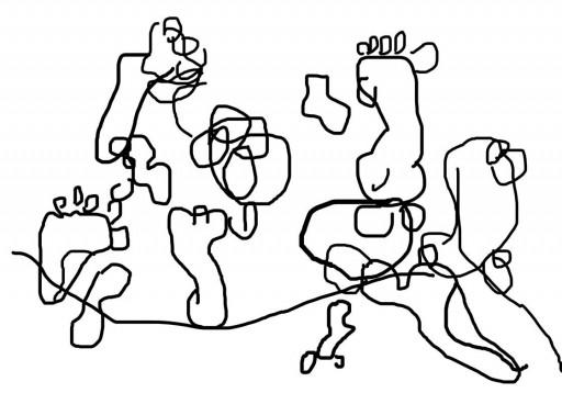 Rita Vitorelli Untitled, 2013  Trackpad drawing (Feet 3)  Dimensions variable  © Rita Vitorelli