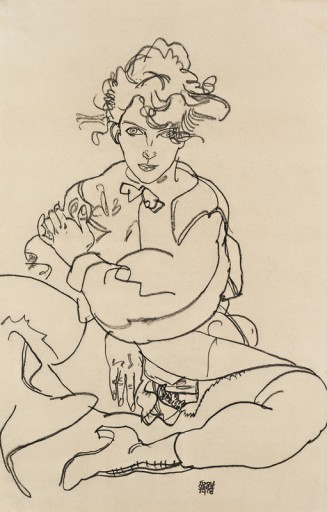 "Egon Schiele ""Sitting Girl with Thights Spread"" (1918), ©Leopold Museum, Vienna"